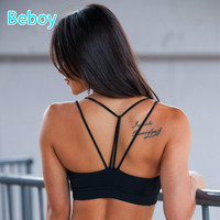 Sexy Triangle Sport Bra Shakeproof Push Up Yoga Quick Dry Padded Top