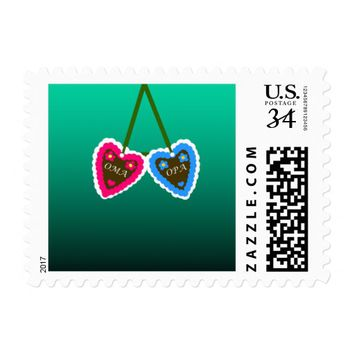 Oma and Opa Gingerbread Hearts ~ Lebkuchenherzen Postage