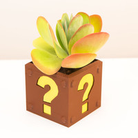 8Bit Question Block Planter