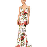 Philipp Plein Floral Sleeveless Long Dress