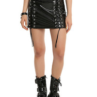 Tripp Black Vinyl Skirt