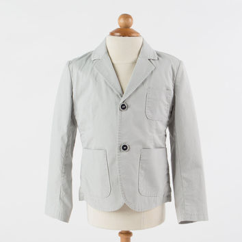 Heach Junior by Silvian Heach - Boys Cotton Summer Berlini Blazer, Grey