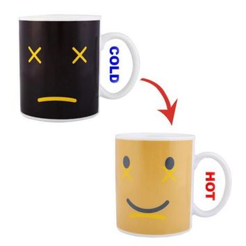 Creative Smile Face Changing Mug Magical Chameleon Coffee Cup Temperature Sensing Novelty Gift 330ml