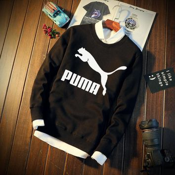 Long Sleeve Korean Sports Round-neck Hoodies [415605948452]