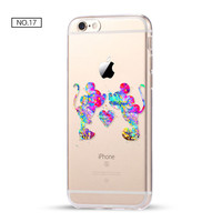 Mickey and Minnie Clear Soft Disney Phone Case For iPhone 7 7Plus 6 6s Plus 5 5s SE C