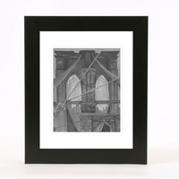 black and white brooklyn bridge 8x10 wall art print