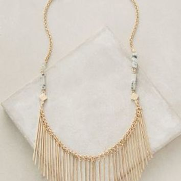 Matchstick Bib Necklace by Anthropologie in Gold Size: One Size Necklaces