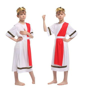 ONETOW Disfraces Children Halloween Carnival kids Greece Noble Egypt Prince of Rome Cosplay Movie Anime Fantasia Boy Party Costume