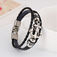 High Fashion Anchor Leather Bracelet For Women & Men