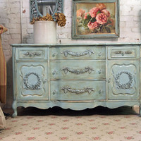 Vintage Painted Cottage Shabby Aqua Chic by paintedcottages