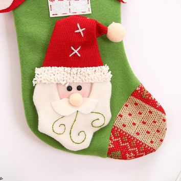 Room wall decoration Christmas gifts Candy Beads Christmas Santa Claus Snowman Socks Decorations