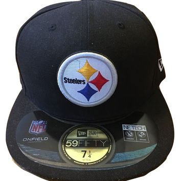 Pittsburgh Steelers New Era 59Fifty NFL On Field Headwear Mens Hat Fitted 7 1/4