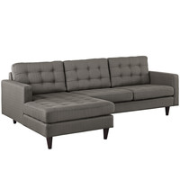 Empress Left-Arm Sectional Sofa in Granite