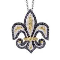 1 7/8ct tw Diamond Fleur de Lis Necklace in 14K White Gold - Colored Diamonds - Jewelry & Gifts
