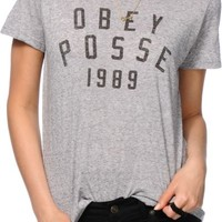 Obey Phys Ed Grey T-Shirt