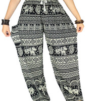 Elephant pants Palazzo pants Peacock pants Unisex pants Hippie clothes Harem pants Thai pants Gypsy pants  Hippie pants Elephant clothes