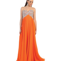 Orange Strapless Sequin Sweetheart Dress 2015 Prom Dresses