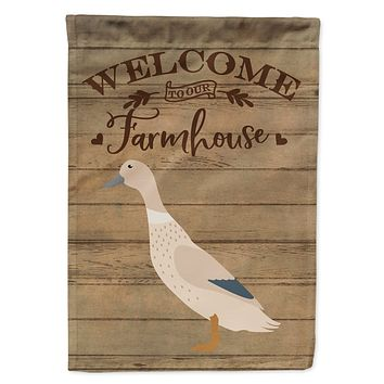 West Harlequin Duck Welcome Flag Canvas House Size CK6802CHF
