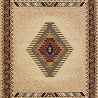 "United Weavers of America Tucson Manhattan Rug Collection, 1' 11"" by 7' 4"", Cream"
