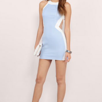 Cut Off Point Bodycon Dress $46
