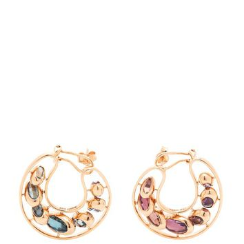 Dancing Creole multi-stone 18kt rose-gold earrings | Marie Mas | MATCHESFASHION.COM US