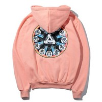PALACE Women/Men Fashion Long Sleeve Tie-dye Pullover Sweater Sweatshirt Hoodie