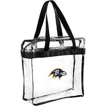 Baltimore Ravens Clear Plastic Zipper Tote Bag NFL 2017 Stadium Approved