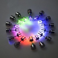 1 Pair Light Up Led Stud Party Multi-color Earrings