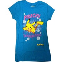 Pokemon Pikachu I Choose You Junior Turquoise T-shirt
