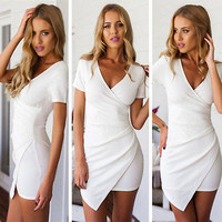 Sexy Women Summer Sexy Bandage Bodycon Lace Party Cocktail Short Dress