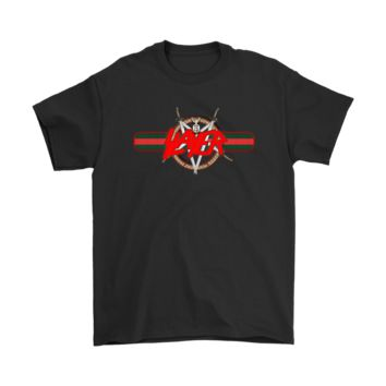 KUYOU Gucci Band Slayer Heavy Metal Band Logo Music Shirts