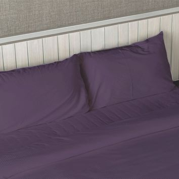 QUEEN SIZE 1800 THREAD COUNT 4 PIECE BED SHEET SET 12 COLORS - Better Than Egyptian Cotton
