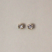Men's Magnetic Round Setting Swarovsky Crystal Earrings