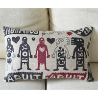 Boys and Girls Print Decorative Pillow [027] : Cozyhere