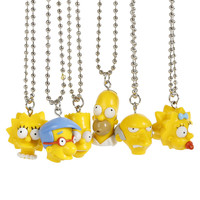 The Simpsons Heads Necklace
