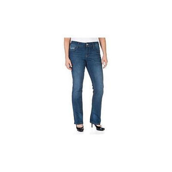 Faded Glory Women's Straight Leg Jeans, 4P, Baltimore Wash