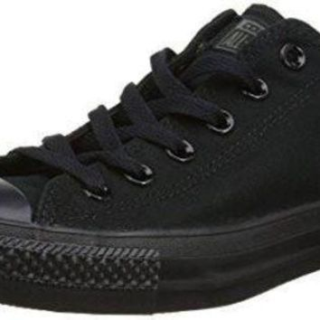 CREYUG7 Unisex Converse Chuck Taylor All Star Low Top Sneakers (9.5 Men 11.5 Women, Black Mono