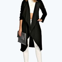 Emma Longline Waterfall Duster Coat