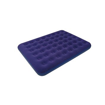 "80"" Navy Blue Queen Sized Indoor/Outdoor Flocked Inflatable Air Mattress"