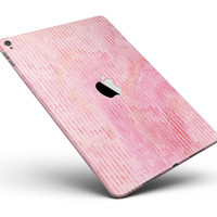 """Shabby Chic Pink Watercolor Stripes Full Body Skin for the iPad Pro (12.9"""" or 9.7"""" available)"""