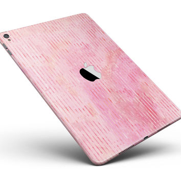 "Shabby Chic Pink Watercolor Stripes Full Body Skin for the iPad Pro (12.9"" or 9.7"" available)"