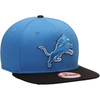 Men's Detroit Lions New Era Light Blue/Black Original Fit Jumbo Logo 9FIFTY Snapback Hat