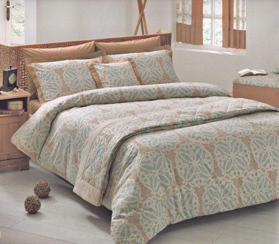 Moroccan Tile Bedding Set In Teal Blue From Myveralinen