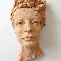 Wall Sculpture - Head of man - High Relief  - Studio decor - Gift ideas