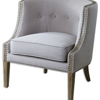 Uttermost 23220 Gamila Fabric Chair Designed by Carolyn Kinder - Transitional - Armchairs And Accent Chairs - by Buildcom