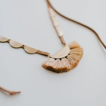 San Clemente Fringe Fan Necklace