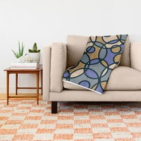Elegant Circles Throw Blanket by Colorful Art
