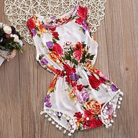 Lovely Baby Girls Kids Sleeveless Flower Romper Jumpsuit Toddler Summer Clothes Outfits Children Girl Floral Rompers Sunsuit