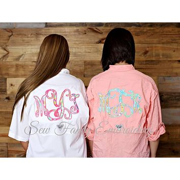 Lilly Pulitzer Monogrammed Fishing Shirt