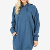 Women Oversized Loose Fit Hoodie Tunic Sweatshirts Top